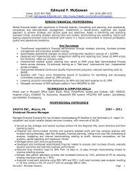 Sample Resume For Finance Executive by Skill Resume Financial Planner Resume Sample Manufacturing