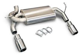 jeep stock exhaust amazon com corsa 24412 dual exit cat back exhaust system for jeep