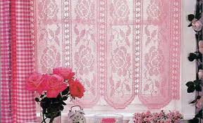 Free Curtain Patterns Filet Crochet Curtain With Roses Crochet Free Patterns On