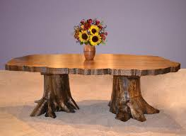 tree trunk dining table tree stump dining table base table designs