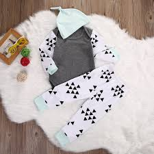 3pcs newborn infant baby boy clothes tops