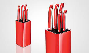 Red Kitchen Set - laguiole evolution u2013 set of kitchen knives and knife block
