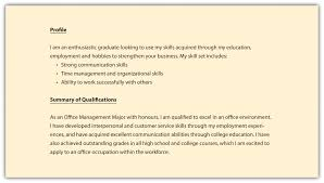 Sample Resume For Career Change by Profile Career Profile Resume Examples