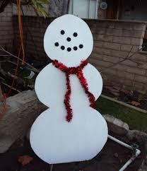 wooden snowman simple wood snowman lawn decoration 11 steps