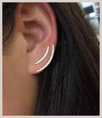 ear climber earring ear climbers the stylish earrings that go up the ear