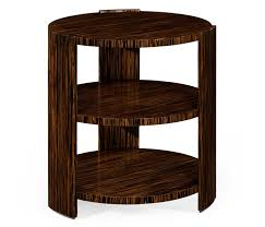 Art Deco Style Deco Style Three Tier Faux Macassar Side Table