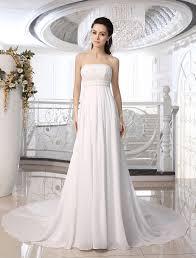ivory strapless wedding dress with beaded applique milanoo com