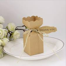 rustic wedding favors 50pcs kraft paper pillow square candy box rustic wedding favors
