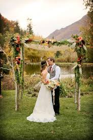 wedding arch log log utah venue market