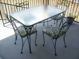 Wrought Iron Patio Furniture Set by Salterini 5 Piece Wrought Iron Patio Table And Chairs