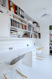 like shelving to ceiling style above the desk home pinterest