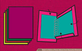 Photo Album Binder 3 Ways To Make A Photo Album From Recycled Materials Wikihow