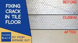 fixing in bathroom tile floor