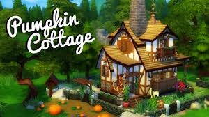pumpkin cottage sims 4 house build youtube