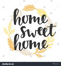 home sweet home quote vintage golden stock vector 541026013