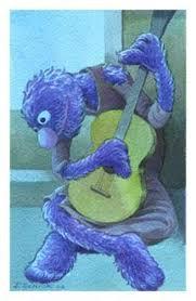grover sesame street art parody picasso guitarist painting