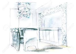 comment dessiner un canapé en perspective dessin d un salon urbantrott com