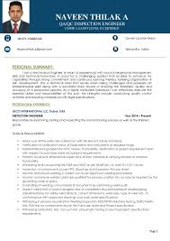 Sample Resume For Mechanical Engineer by Qa Qc Mechanical Engineer Sample Resume Contegri Com