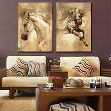Wall Paintings For Living Room Online Get Cheap Oil Paintings Horses Aliexpress Com Alibaba Group