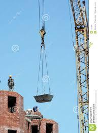lifting crane to raise a bricks royalty free stock photos image
