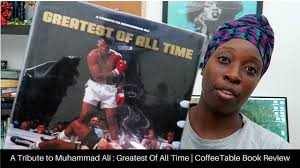 a tribute to muhammad ali greatest of all time coffeetable