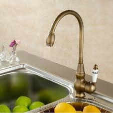 Brushed Brass Kitchen Faucet by Antique Faucets