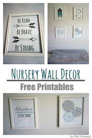 Nursery Wall Decor With Free Printables