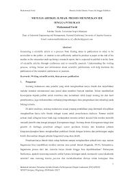 artikel format paper ilmiah menulis artikel ilmiah proses menemukan pdf download available