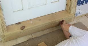 Wooden Exterior Door Threshold Exterior Door Floor Threshold Home Design Hay Us