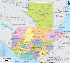 geographical map of guatemala detailed political map of guatemala ezilon maps