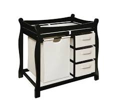 Delta Changing Table Espresso Badger Basket Sleigh Style Changing Table With Her