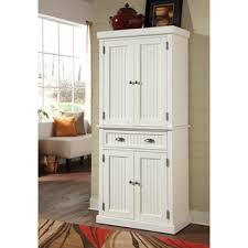 Kitchen Pantry Cabinet by Hodedah 4 Door White Kitchen Pantry Hi224 White The Home Depot