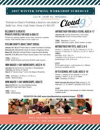 new 2017 winter spring workshop schedule cloud9workshop