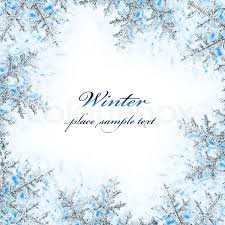 snowflake decorative frame beautiful blue cold frozen snow