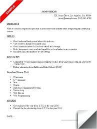 resume format college student internship resumes sle internship resume for college students see more resume