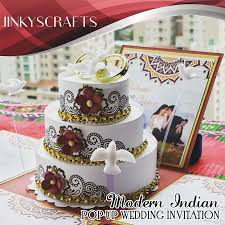pop up wedding invitations pop up wedding invitation modern indian 2015 jinkys crafts