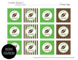 football party favors football birthday party favor tags printable instant