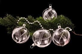 weihnachtsbaumschmuck klar silber christbaumschmuck und