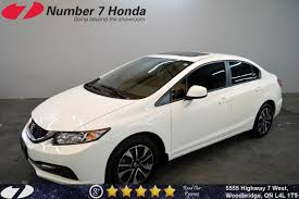 grey honda civic number 7 honda offering the gta pre owned vehicles priced for