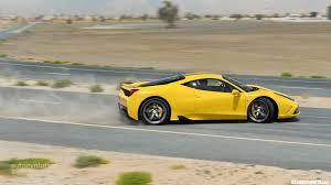 Ferrari 458 Yellow - epic pics yellow ferrari 458 speciale powersliding sssupersports