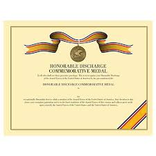 honorable discharge certificate honorable discharge commemorative certificate medals of america