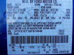 identify your ford truck axle from the door sticker blue oval trucks