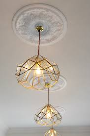 my new diy brass and glass kitchen pendants swoon worthy