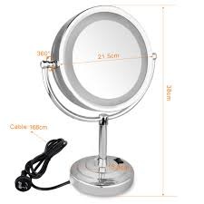 led lighted 10x 7x magnifying makeup vanity table stand mirror