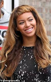 clip in fringe how a clip in fringe can give you beyonce s new look daily mail