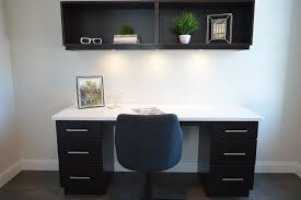white and black wooden pedestal desk free stock photo