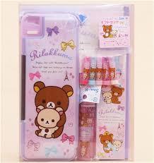 stationary set kawaii rilakkuma stationery gift set by san x memo pads