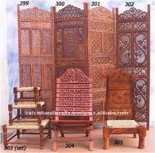 Privacy Screen Room Divider Home Decor Set Wood Carving Partition Antique Wooden Screen Room