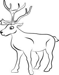 reindeer coloring pages bltidm