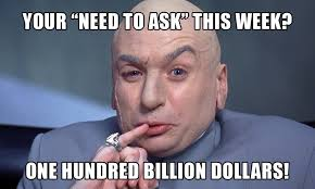 Austin Meme - dr evil from austin powers wants to set your sales goal for more